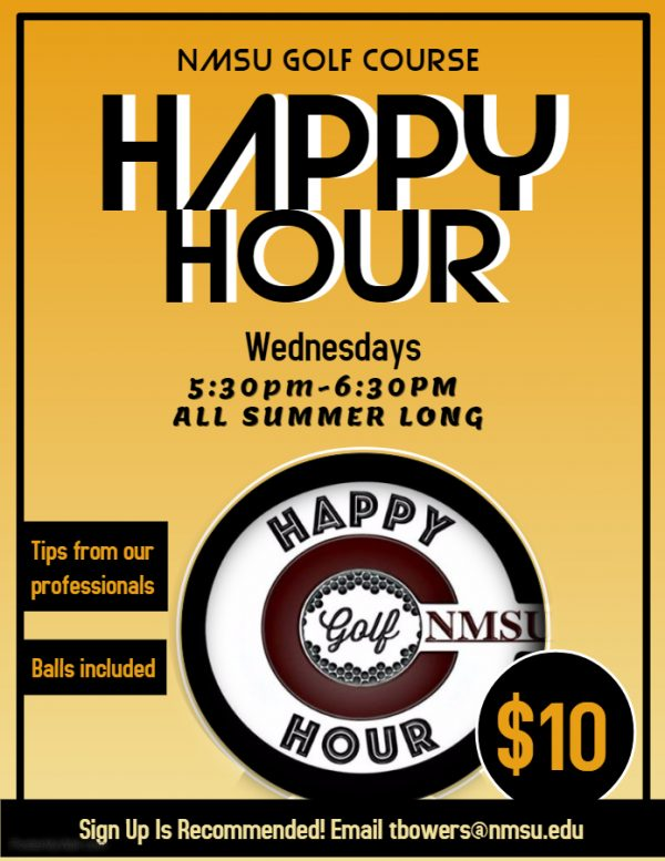 Golf Happy Hour 5:30-6:30pm all summer long for just $10 per session
