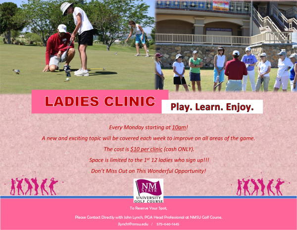 Register for our $10 Ladies Clinics