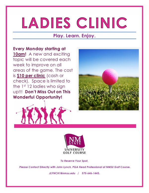 $10 Ladies Clinic every Monday at 10am